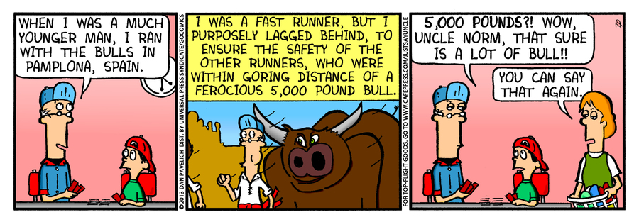 Just Say Uncle for Sep 27, 2013 Comic Strip