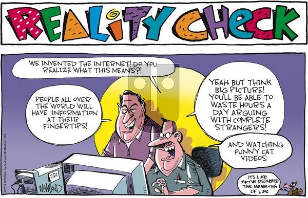 Reality Check - Sunday July 21, 2019 Comic Strip