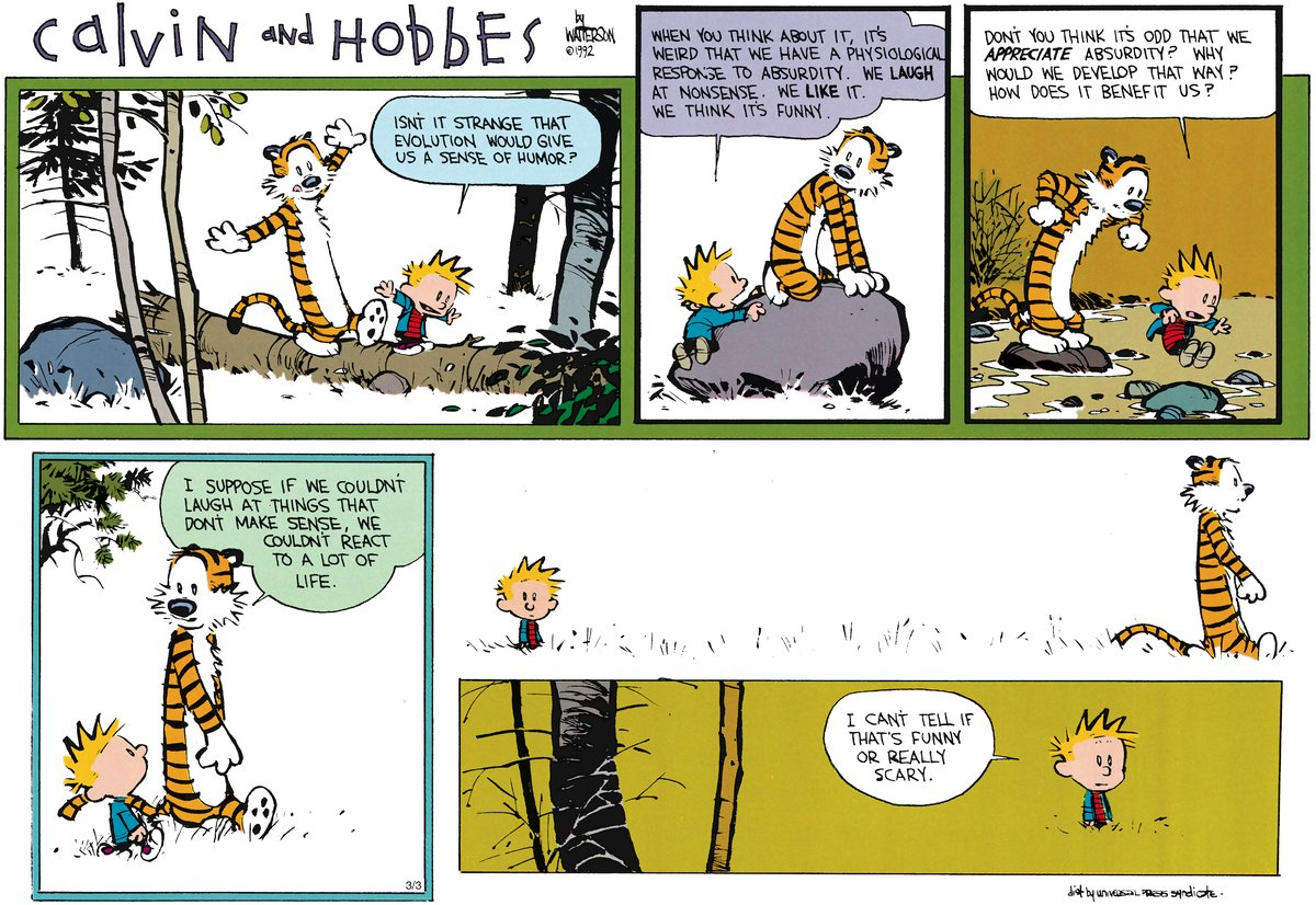 Calvin and Hobbes Comic Strip for April 22, 2012