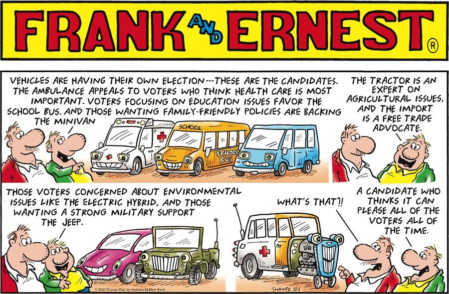 Frank and Ernest Comic Strip for November 01, 2020