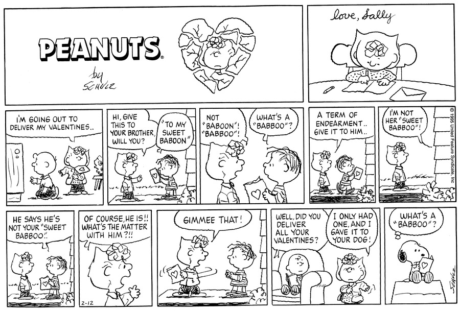Peanuts for Feb 12, 1995 Comic Strip