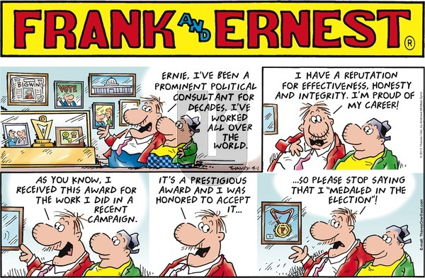 Frank and Ernest on Sunday April 1, 2018 Comic Strip