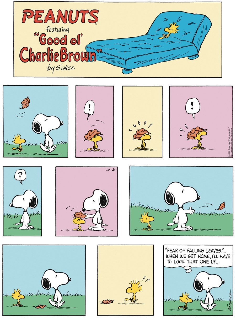 Peanuts by Charles Schulz for October 20, 2019