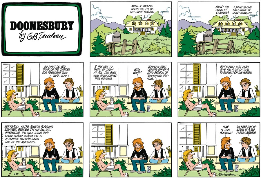 Doonesbury Comic Strip for September 28, 1980