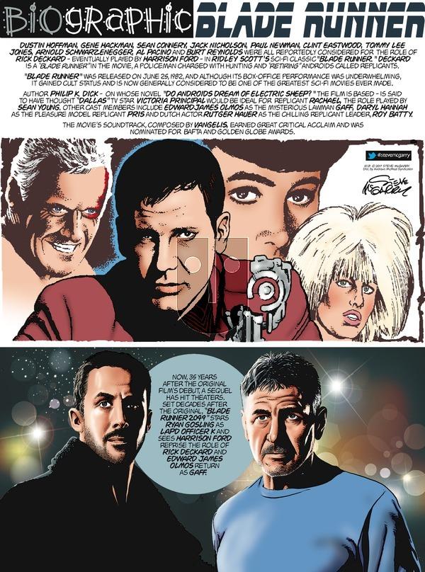 Biographic on Sunday October 8, 2017 Comic Strip
