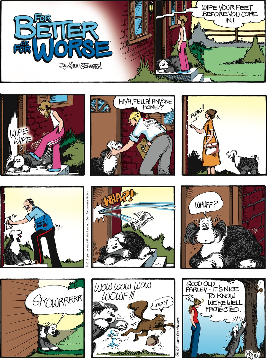 For Better or For Worse Comic Strip for August 07, 2016