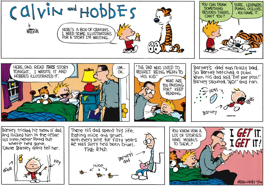 Calvin and Hobbes Comic Strip for December 27, 1987