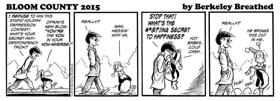 Bloom County 2019 Comic Strip for December 28, 2015