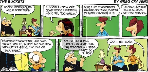 The Buckets on Sunday September 8, 2013 Comic Strip