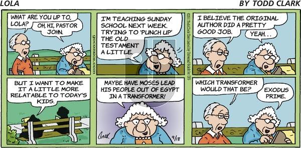Lola on Sunday September 18, 2011 Comic Strip