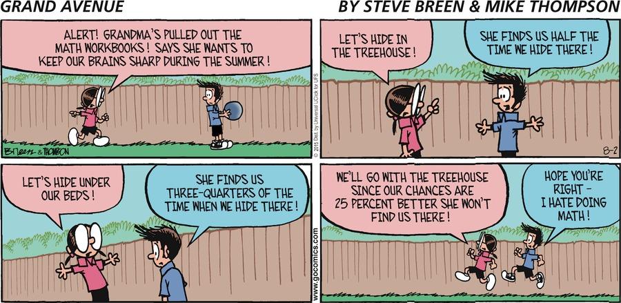 Grand Avenue Comic Strip for August 02, 2015