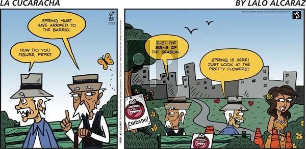 La Cucaracha - Sunday March 22, 2020 Comic Strip
