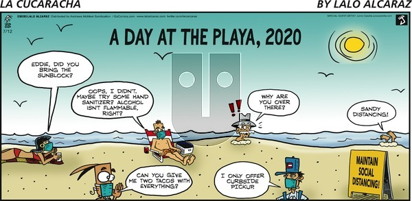 La Cucaracha - Sunday July 12, 2020 Comic Strip