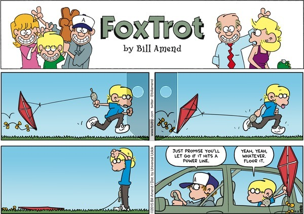 FoxTrot on Sunday September 27, 2015 Comic Strip