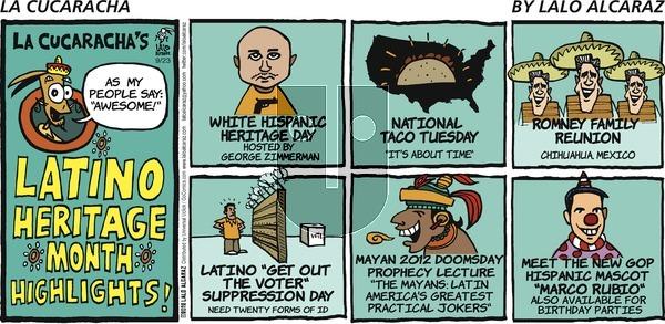 La Cucaracha on Sunday September 23, 2012 Comic Strip
