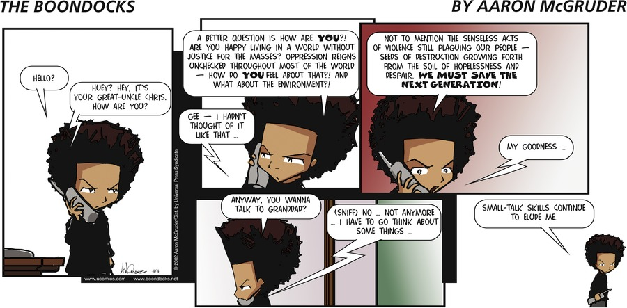 The Boondocks Comic Strip for June 16, 2019
