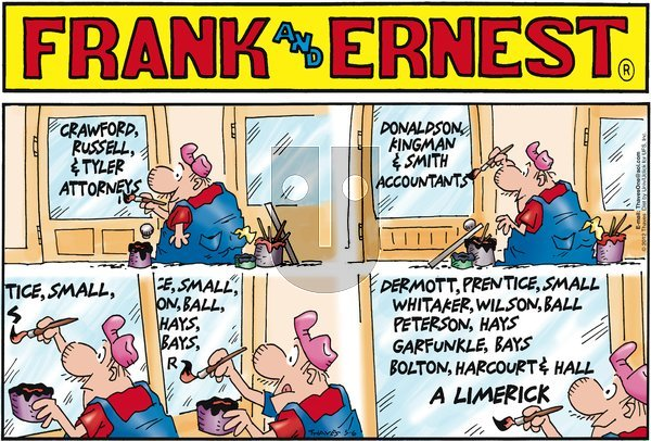 Frank and Ernest on Sunday May 6, 2012 Comic Strip