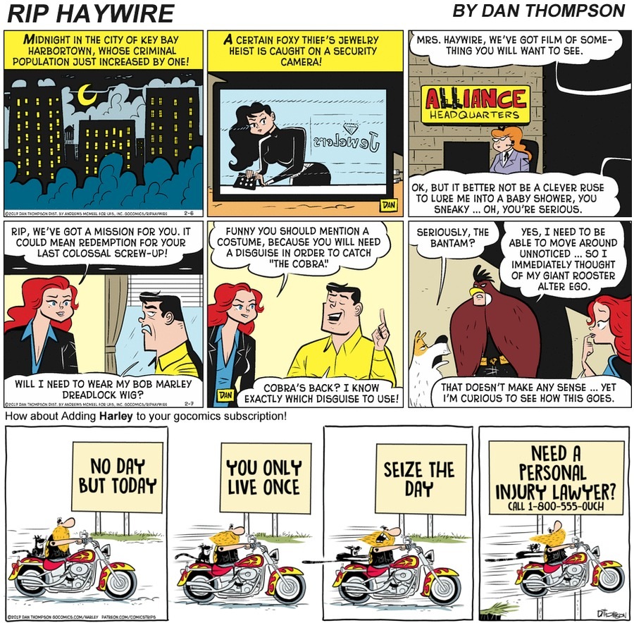 Rip Haywire Comic Strip for December 27, 2020