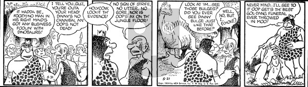 Alley Oop on Friday May 21, 1954 Comic Strip