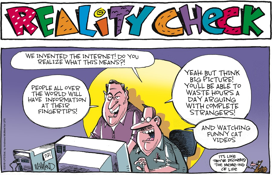 Reality Check Comic Strip for July 21, 2019