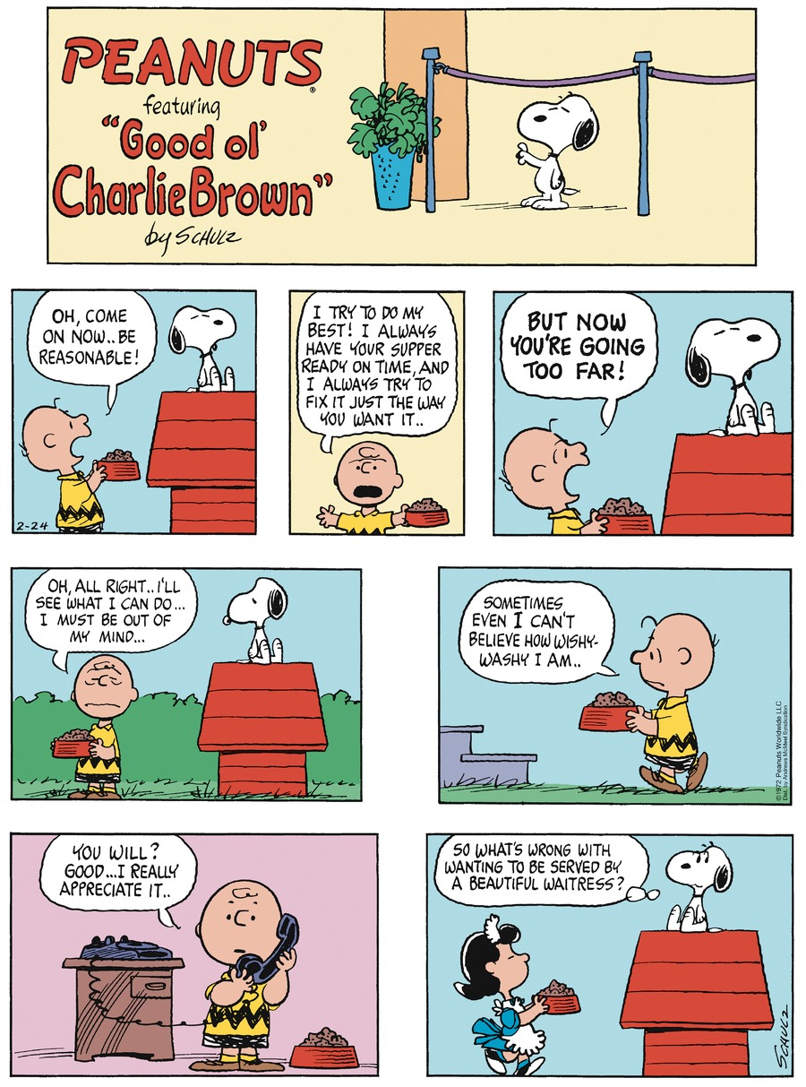 Peanuts by Charles Schulz for February 24, 2019