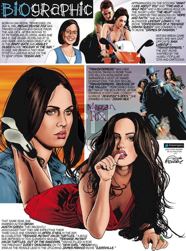 Biographic on Sunday June 12, 2016 Comic Strip