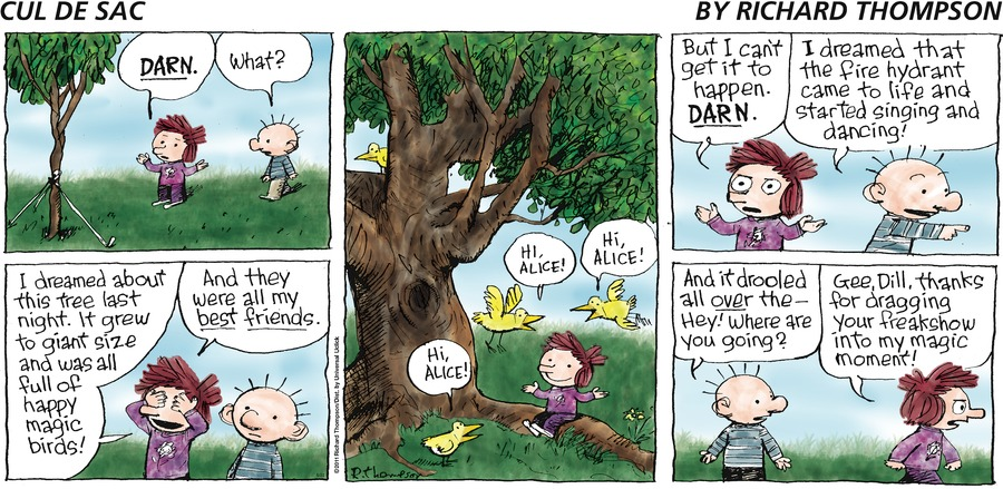 Cul de Sac for May 22, 2016 Comic Strip