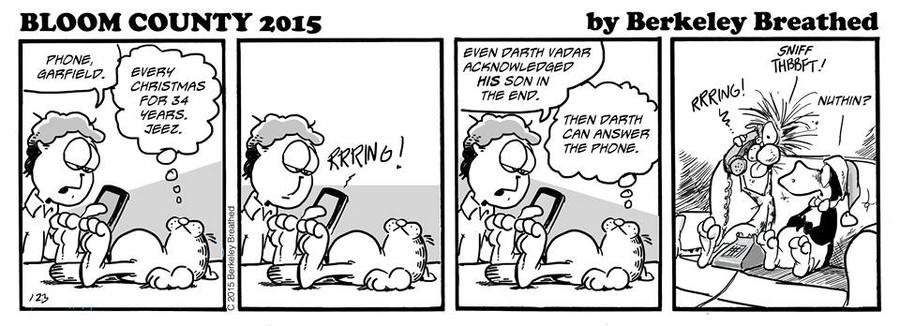 Bloom County 2019 Comic Strip for December 29, 2015