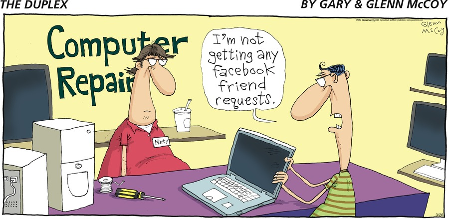 eno: I'm not getting any facebook friend requests.