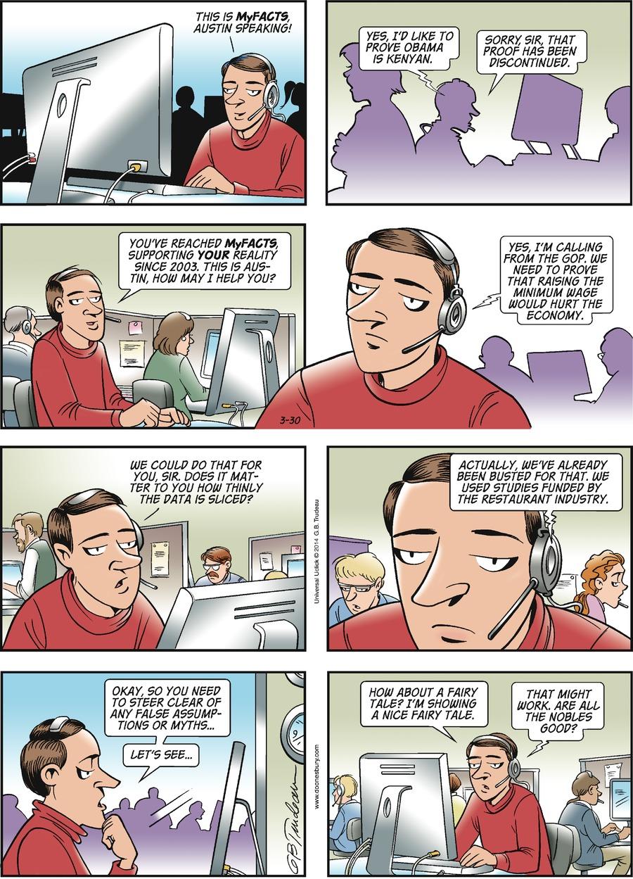 Doonesbury for Mar 30, 2014 Comic Strip