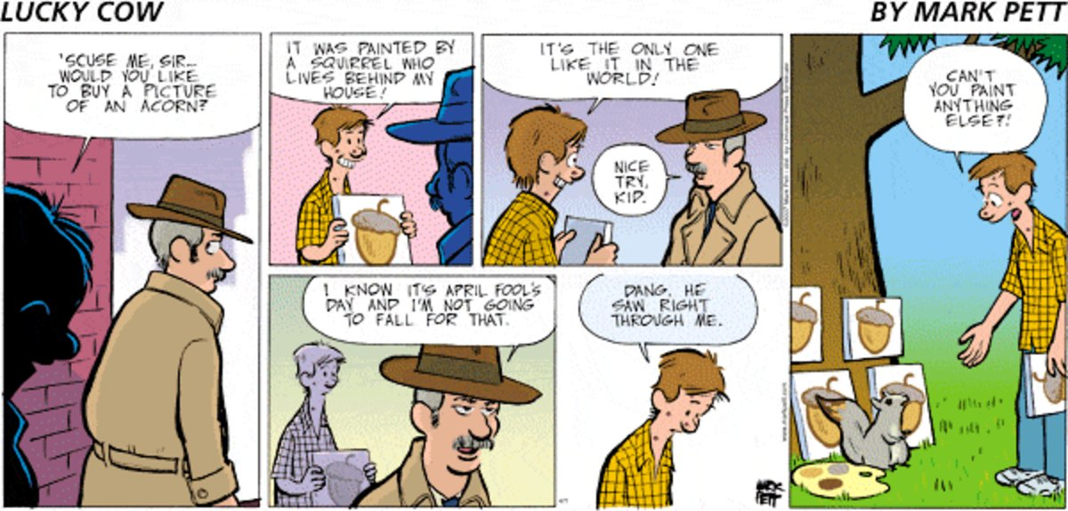 Lucky Cow for Mar 30, 2014 Comic Strip