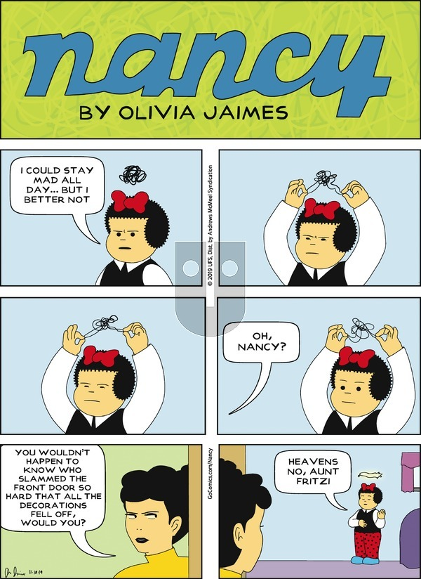 Nancy on Sunday November 10, 2019 Comic Strip