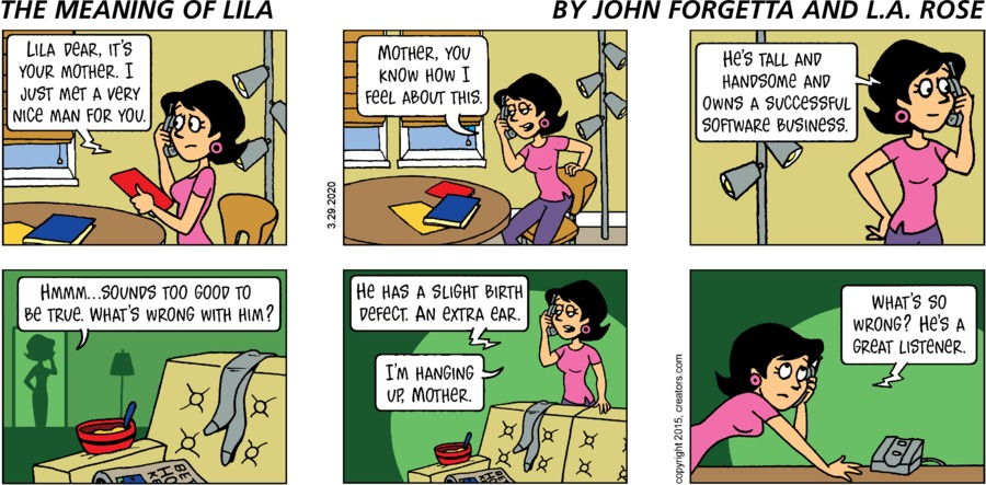 The Meaning of Lila Comic Strip for March 29, 2020