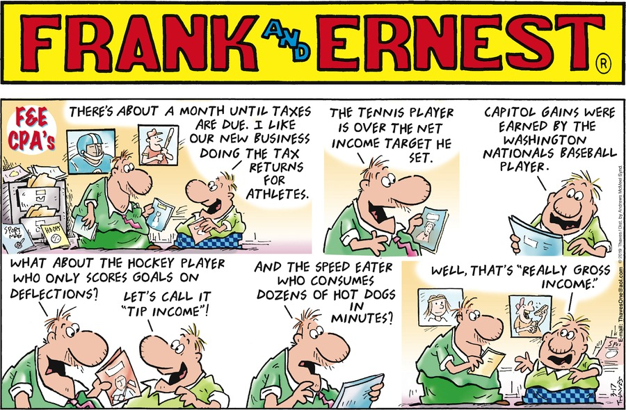 Frank and Ernest by Thaves for March 17, 2019