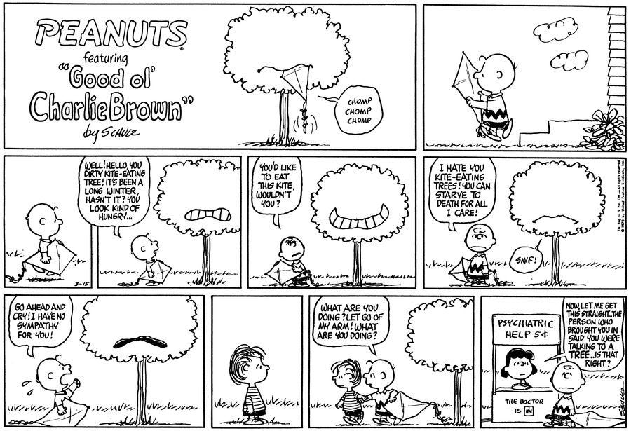Peanuts Comic Strip for March 15, 1970