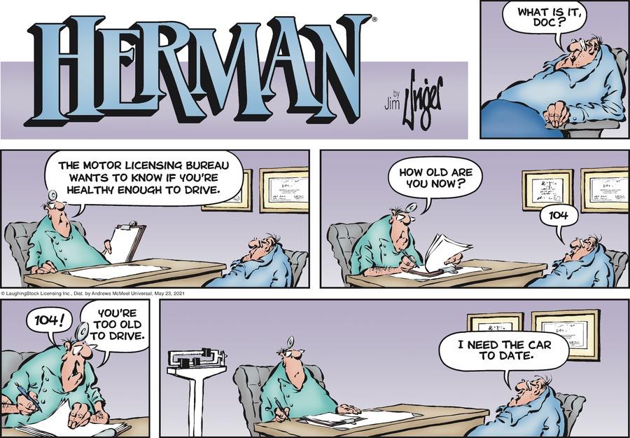 Herman Comic Strip for May 23, 2021