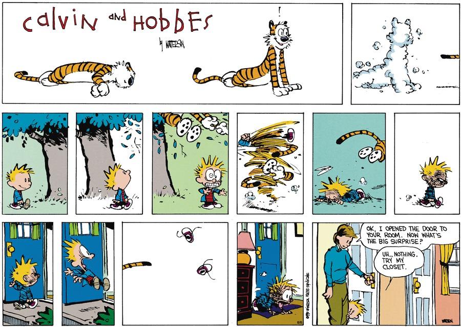 Calvin and Hobbes Comic Strip for September 23, 1990