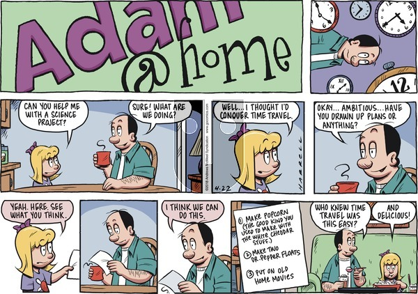 Adam@Home on Sunday April 22, 2018 Comic Strip