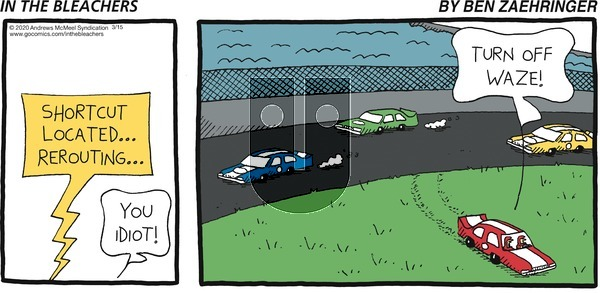 In the Bleachers on Sunday March 15, 2020 Comic Strip