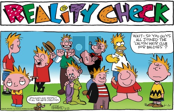 Reality Check on Sunday June 23, 2019 Comic Strip