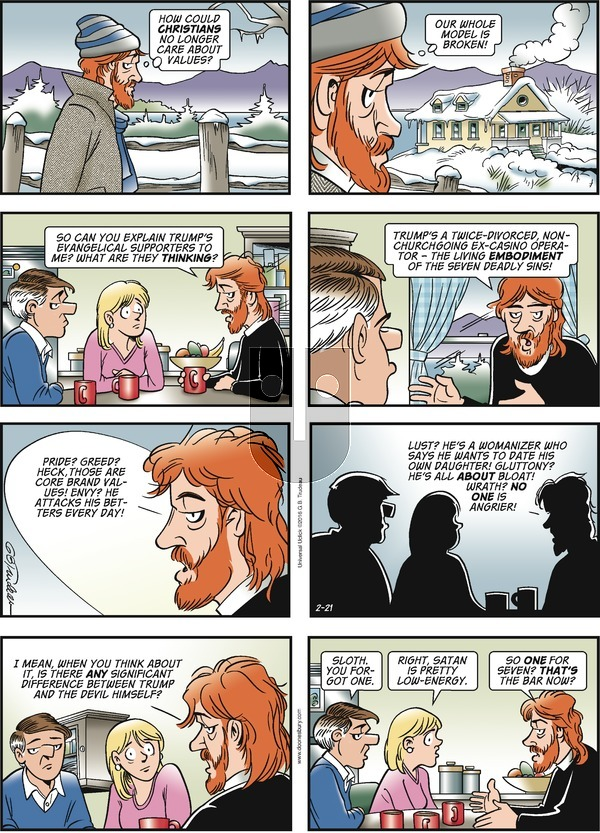 Doonesbury on Sunday February 21, 2016 Comic Strip