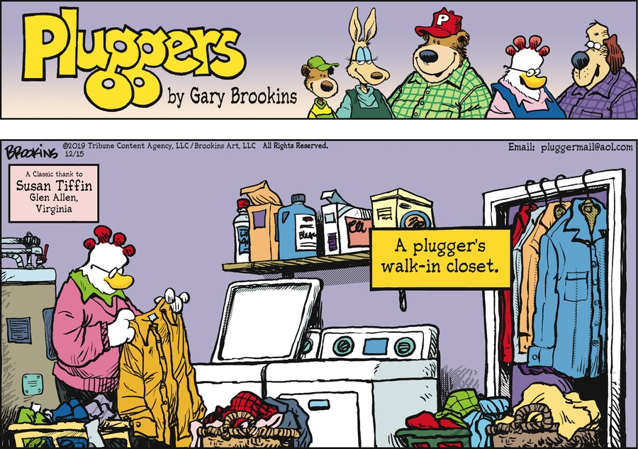 Pluggers Comic Strip for December 15, 2019