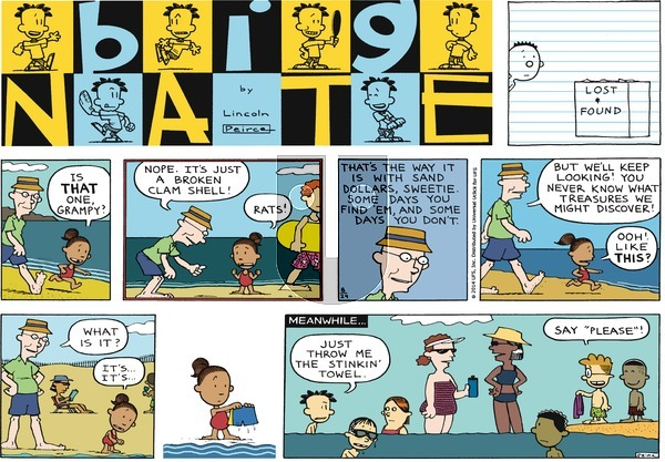 Big Nate on Sunday August 24, 2014 Comic Strip