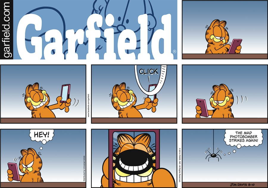 Garfield Comic Strip for August 10, 2014