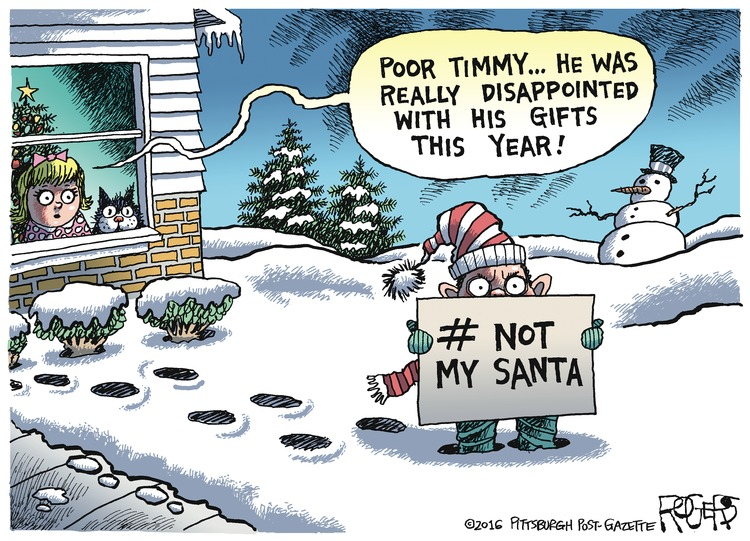 Rob Rogers Comic Strip for December 25, 2016