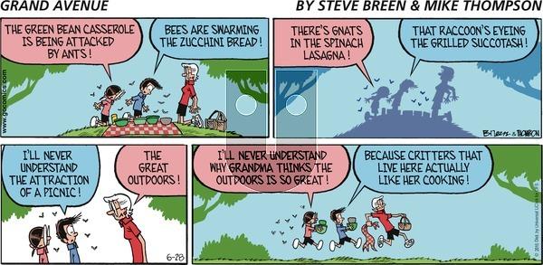 Grand Avenue on Sunday June 28, 2015 Comic Strip