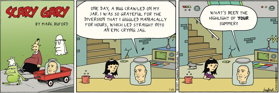 Scary Gary Comic Strip for July 25, 2021