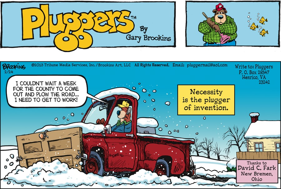 Pluggers Comic Strip for February 24, 2013