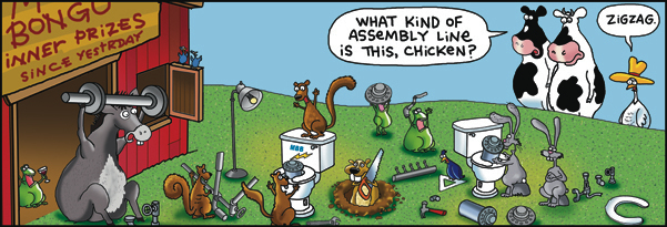 2 Cows and a Chicken for Oct 3, 2017 Comic Strip