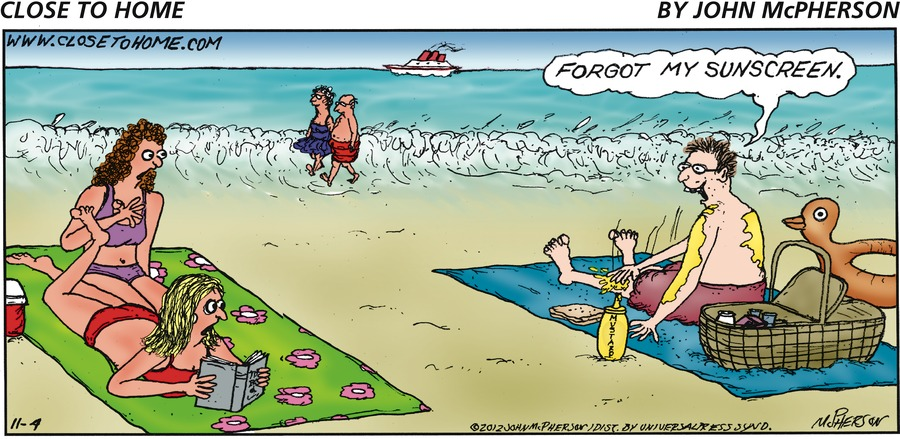 Close to Home for Nov 4, 2012 Comic Strip